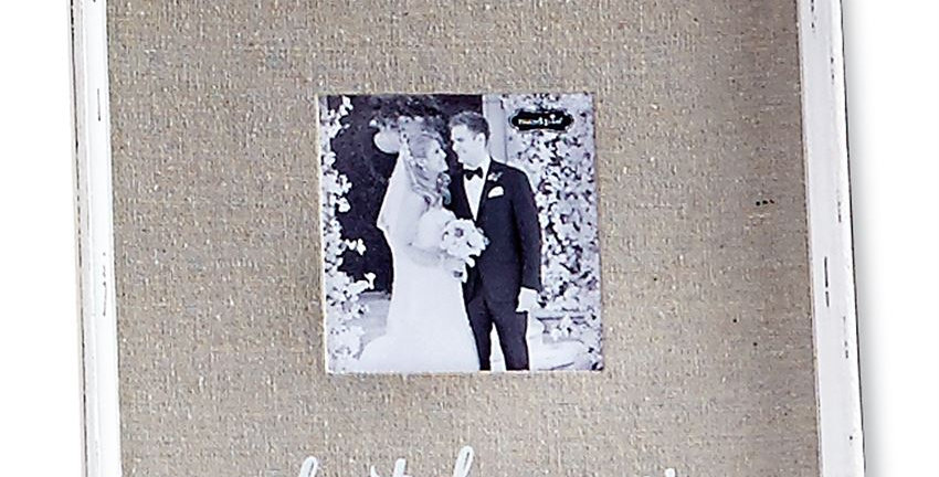 Best Day Ever Linen Photo Frame