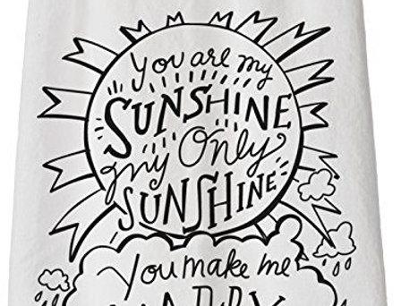 'My only sunshine' tea towel