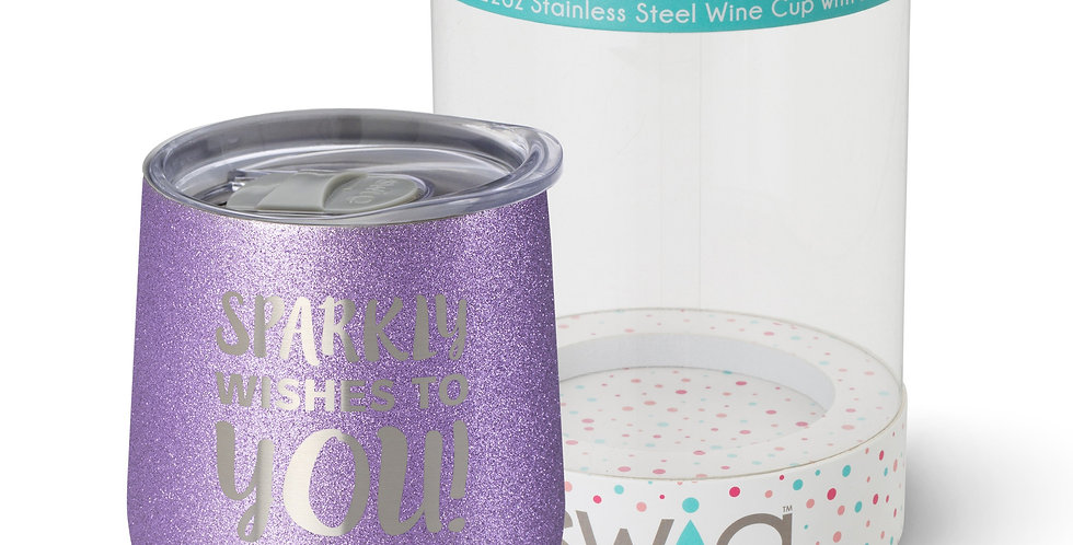 Sparkly Wishes to YOU! wine cup