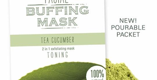 Tea Cucumber Facial Buffing Mask
