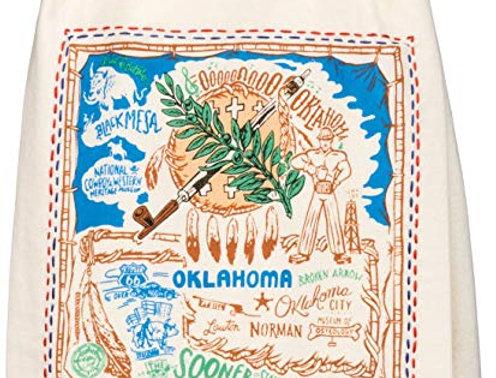 OK embroidered Tea Towel