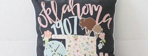 Oklahoma 1907 Pillow