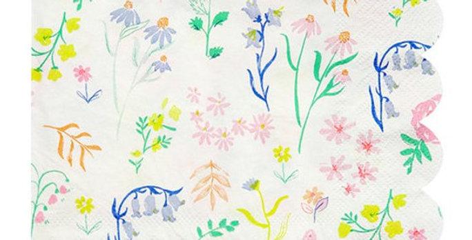 Floral Party Napkins