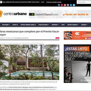 Las obras mexicanas que compiten por el Premio Oscar Niemeyer en centrourbano
