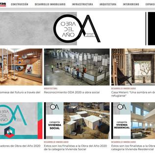 Conoce a las obras finalistas de ODA 2020 en Revista Obras
