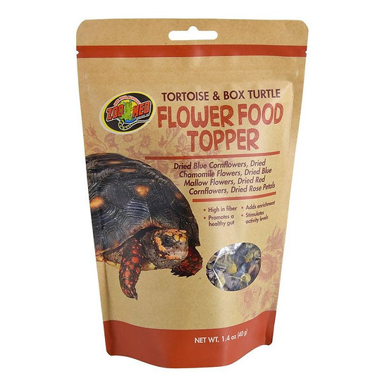 Zoo Med Flower Food Topper Turtle 1.4 oz