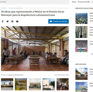 30 obras que representarán a México en el Premio Oscar Niemeyer para la Arquitectura Latinoamericana