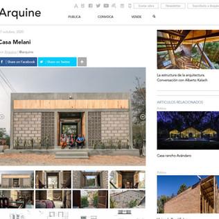 Publicación en Aquine sobre Casa Melani