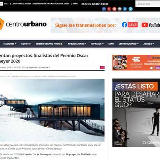 Presentan proyectos finalistas del Premio Oscar Niemeyer 2020 en centrourbano