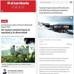 Twenty Projects Named Finalists for the 2020 Oscar Niemeyer Award en NYC Architecture Biennial