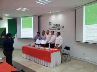 Firma de Convenio Colegio de Arquitectos y ONG Cuidemos.org