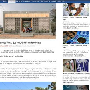 La casa fénix, que resurgió de un terremoto en AquiNoticas