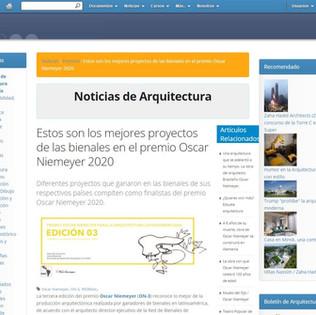 Estos son los mejores proyectos de las bienales en el premio Oscar Niemeyer 2020 en noticias.arq