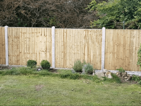 Changing the colour of stain of your fence panels