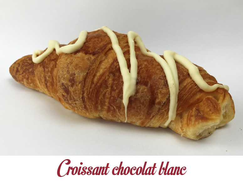 Croissant chocolat blanc