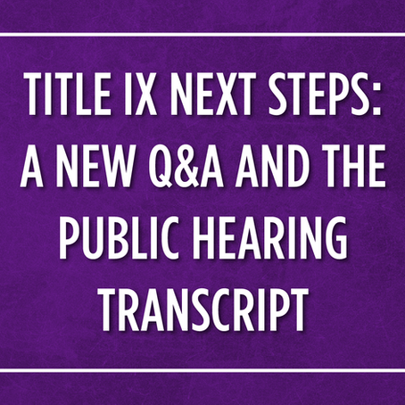 OCR RELEASES RESOURCES ON TITLE IX