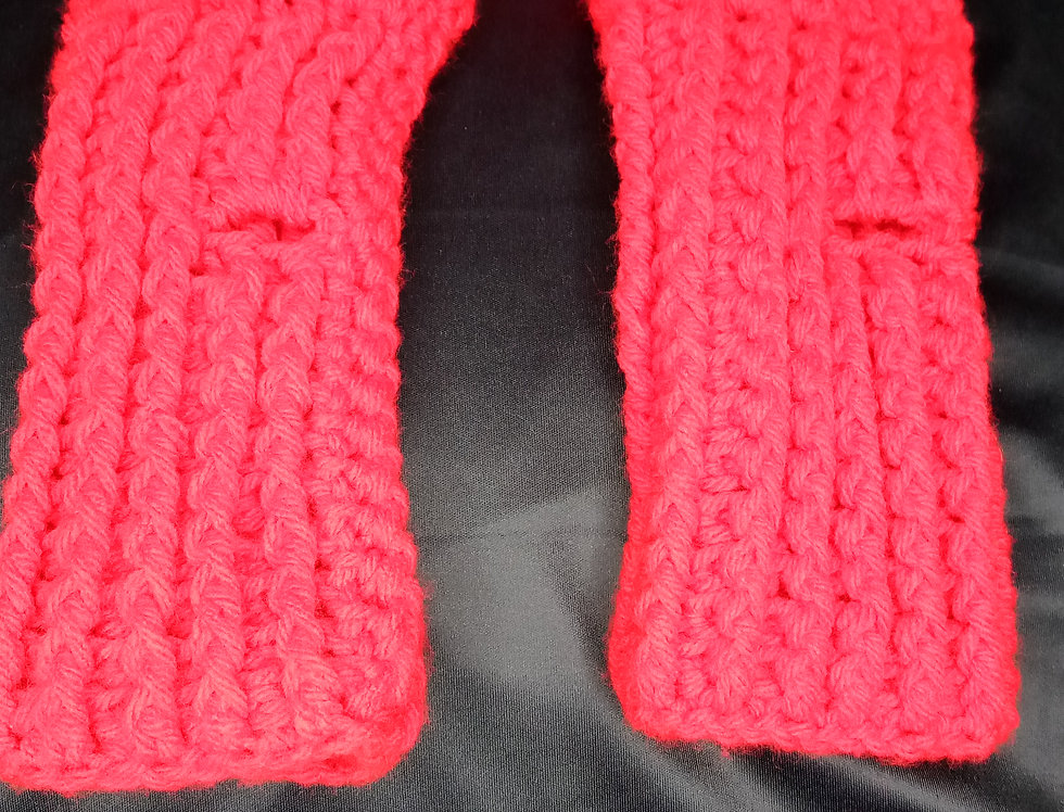 HEADBAND WARMER AND FINGERLESS GLOVES