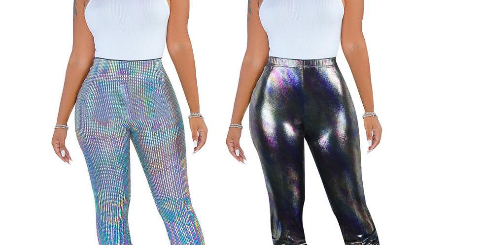Metalic Stack Pants