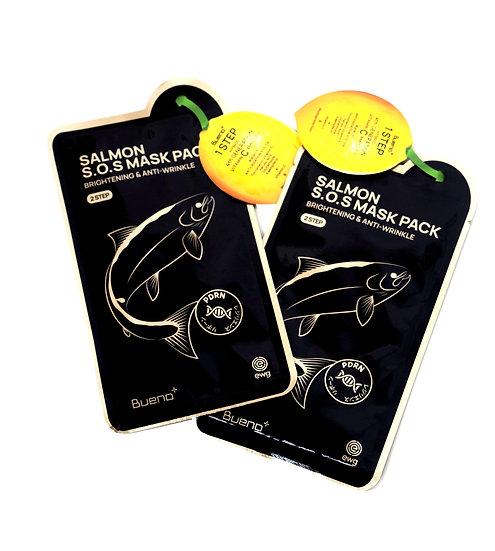 BUENO SALMON S.O.S MASK Тканевая маска с экстрактом лососевой икры и витамином С