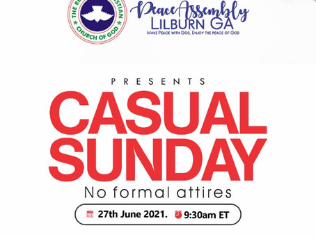 Sunday Sermon: Casual Sunday Service