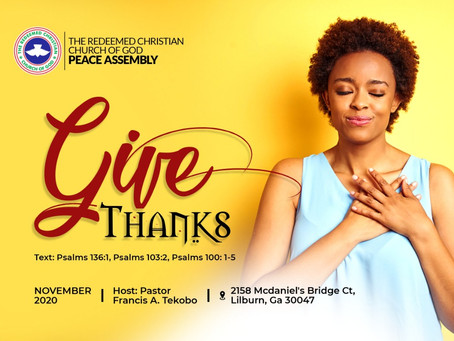 Give Thanks: Sunday Thanksgiving Service
