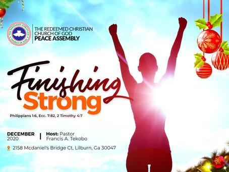 Finishing Strong: Last December Sunday Service