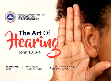 Sunday Service (Week 4):  The Art of Hearing