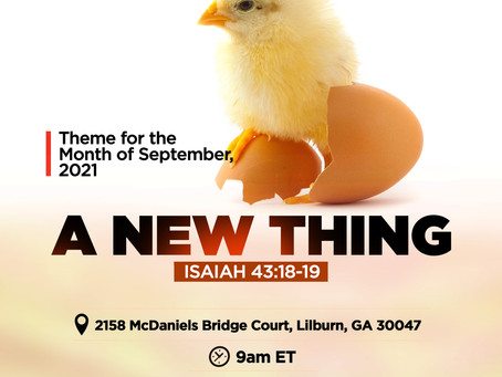 A New Thing: Sunday Service Ministered by Pastor Francis Tekobo