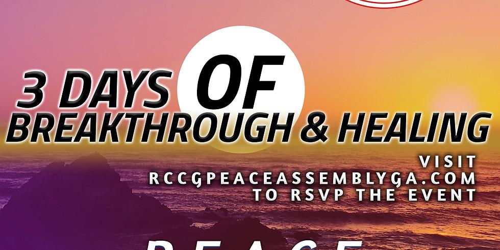3 Days of Breakthrough & Healing