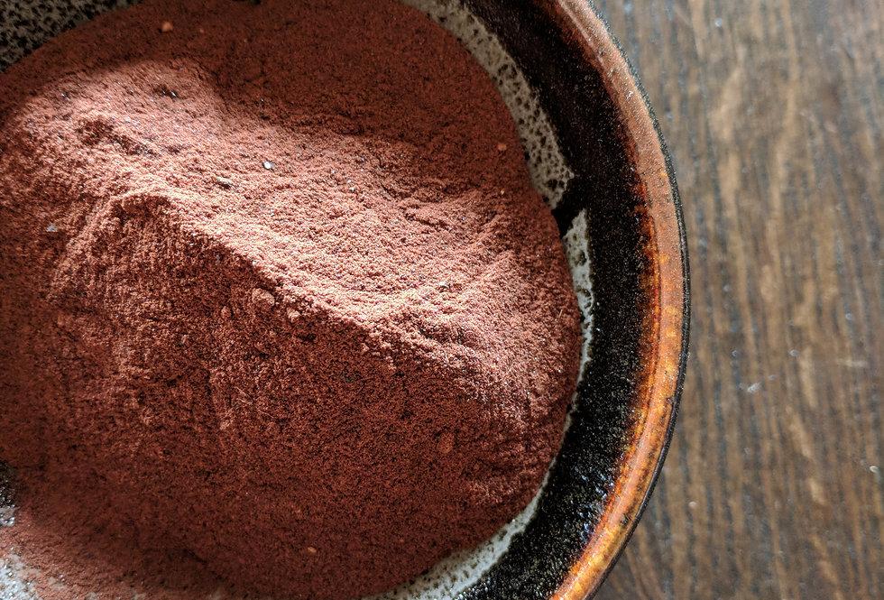 pictured: Cutch natural dye in bowl
