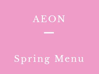 AEON 春の新メニュー ヘルシーアレンジ レシピ提案しました。