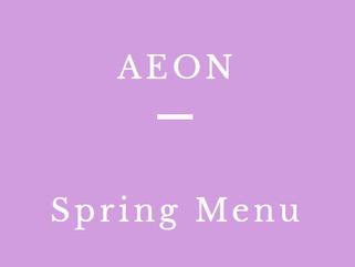 AEON 春の新メニュー 撮影スタイリングしました。