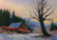 Mount Prevost sunset