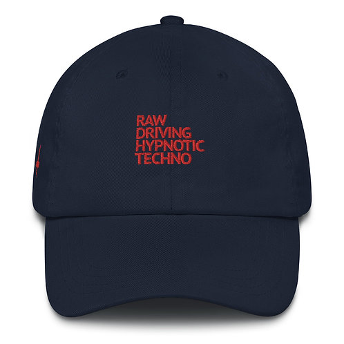 Techno Bklyn Records Dad Hat V2 (Ltd. Edition Red)