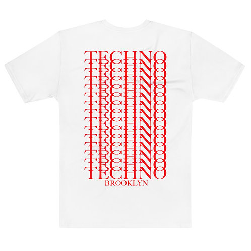 Techno Stacked Tee V1 (Ltd. Edition Red With Cross)