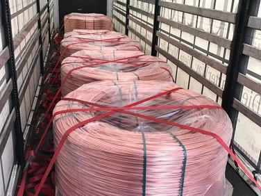 24 Tonnen Draht für einen Kunden in Österreich