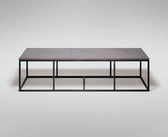 STEEL AND STONE LOW TABLE