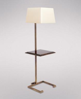 MODERNE GILDED IRON FLOOR LAMP