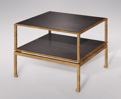 MODERNE GILDED IRON END OR CHOW TABLE