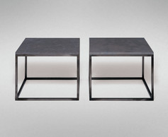 STEEL AND STONE END OR CHOW TABLE