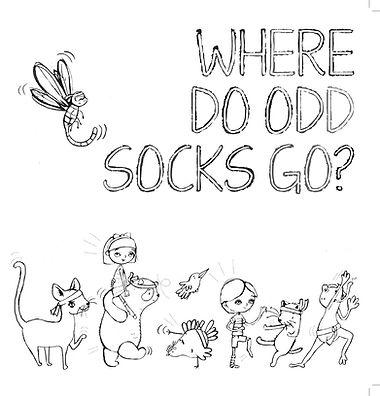 180806 Where Do Odd Socks Go Colouring I
