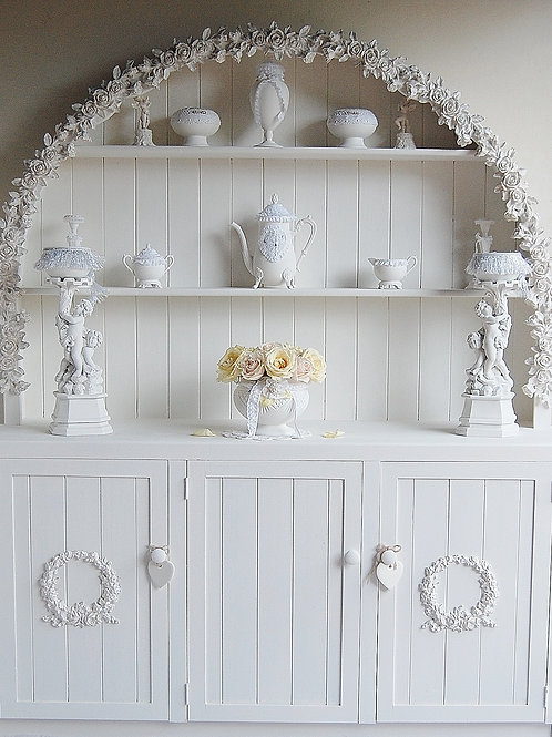 Vintage Decorated Hutch