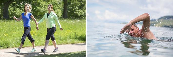 Varis tedavisinden sonra ideal sporlar yürüme ve yüzmedir.