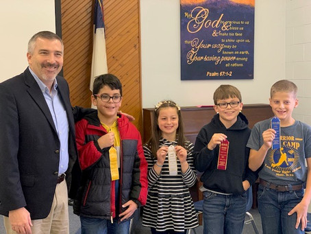 Berean Students Compete in School Spelling Bee