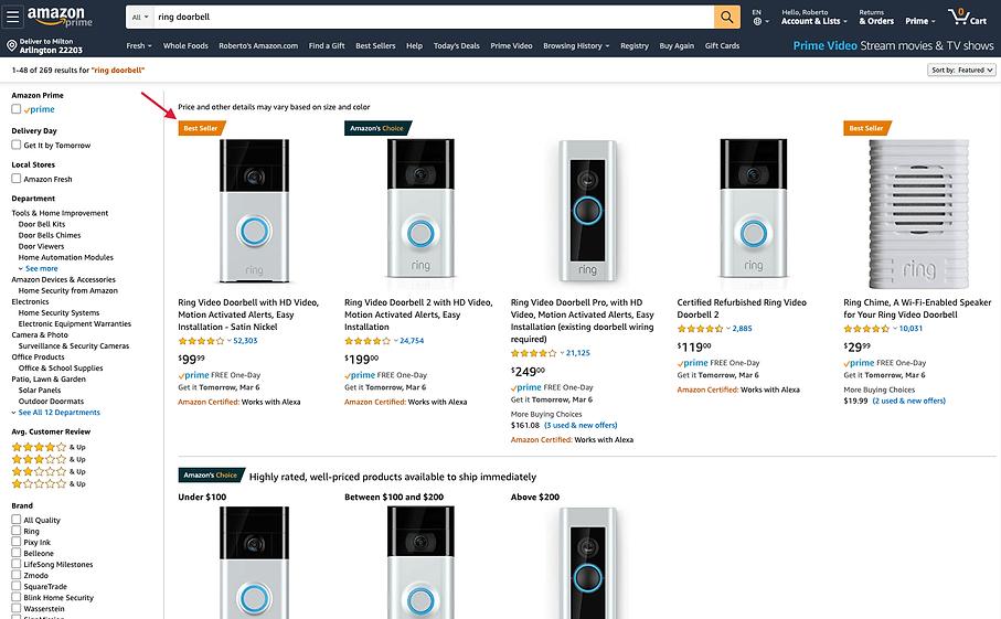 best seller amazon.com