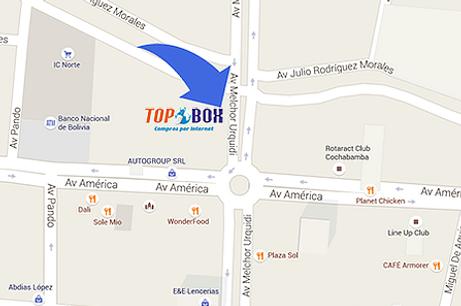 Dirección de TopBox Bolivia