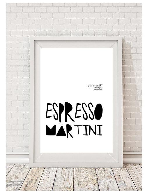 Espresso Martini Digital Download Print