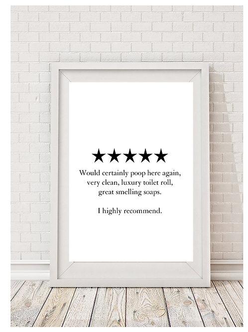 Toilet Humour (poop) Digital Download Print