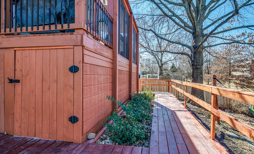 And don't forget the dry storage under the deck!