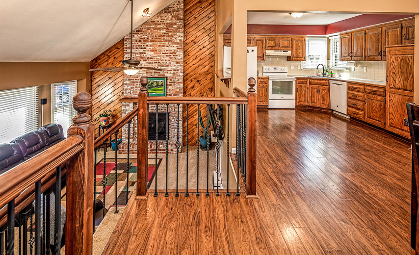 Spacious kitchen and open dining area!